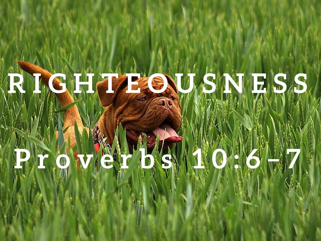 Proverbs 10:6-7