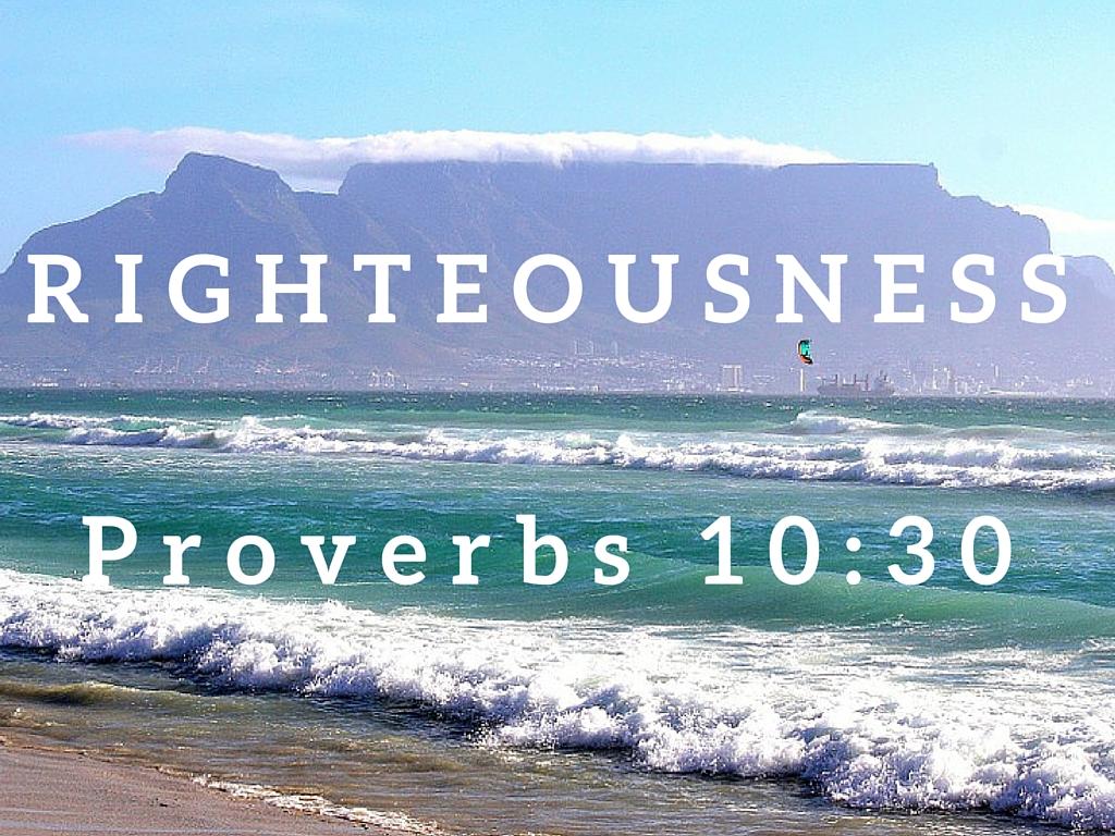 Proverbs 10:30